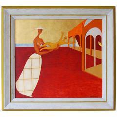 Surrealist Painting by American Artist Joseph St. Amand, 1957