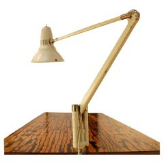 Swedish 1950s Articulating Clamp-On Desk Lamp by ASEA