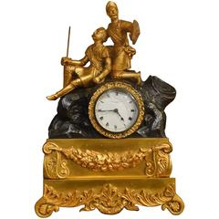 Bronze and Ormolu-Mounted Mid-19th Century Period Clock by Charles Frodsham