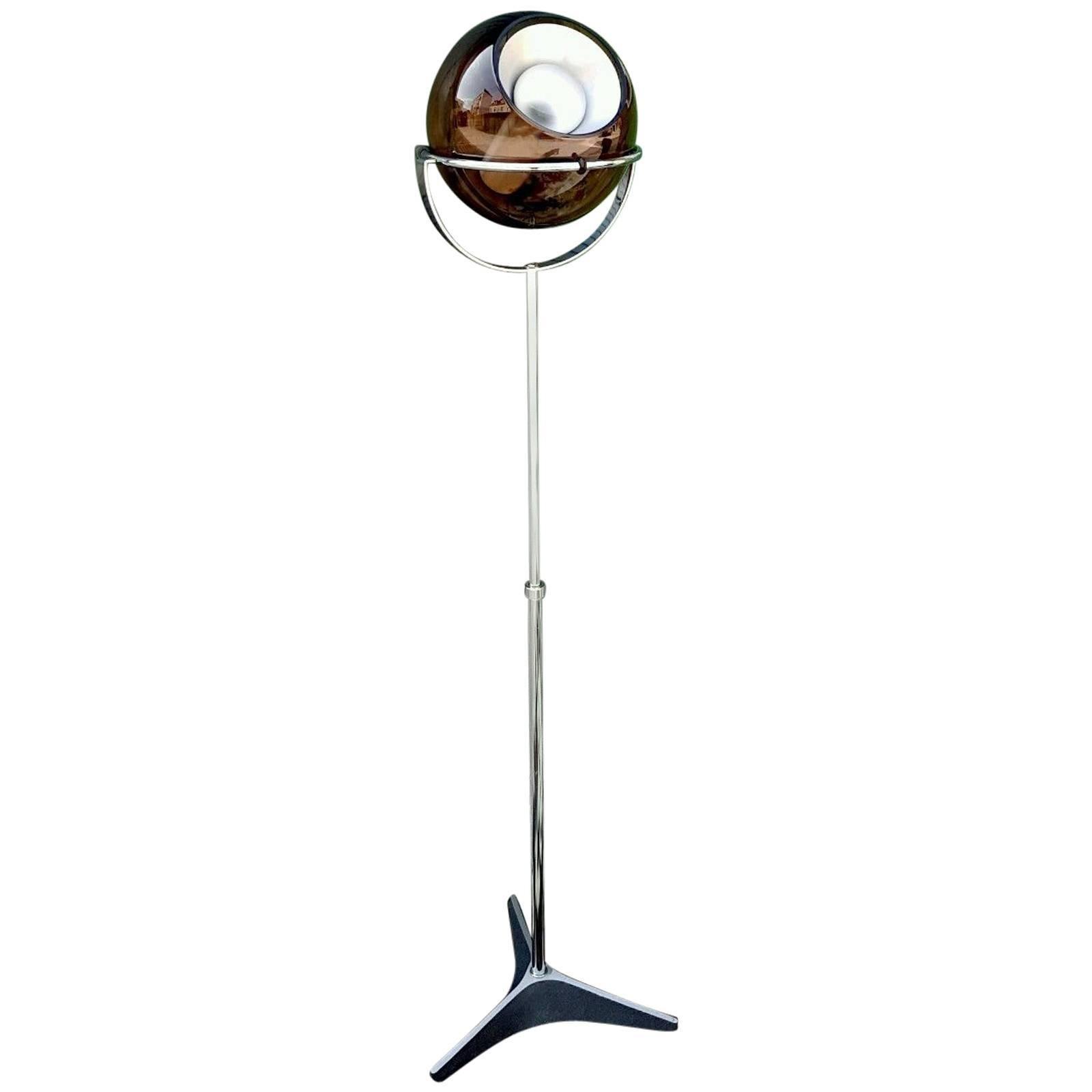 Rare Adjustable Floor Lamp by Frank Ligtelijn for RAAK of Amsterdam, circa 1960