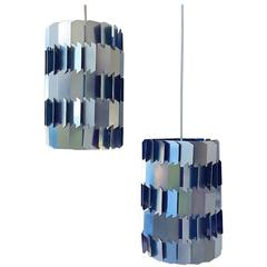 Danish Mid-Century Facet Pop Ceiling Lamp by Louis Weisdorf for Lyfa