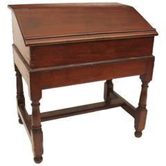 Pine William and Mary Desk on Frame