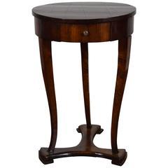 Italian, Veneto, Walnut 1-Drawer Table on Unique Base, 1st Quarter 19th Century