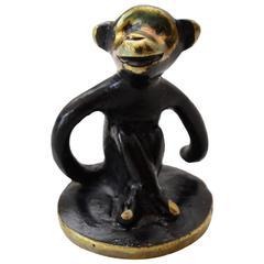 Small Monkey Figurine by Walter Bosse, 1950s