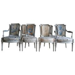 Set of Six French Period Louis XVI Chairs Attributed to George Jacob