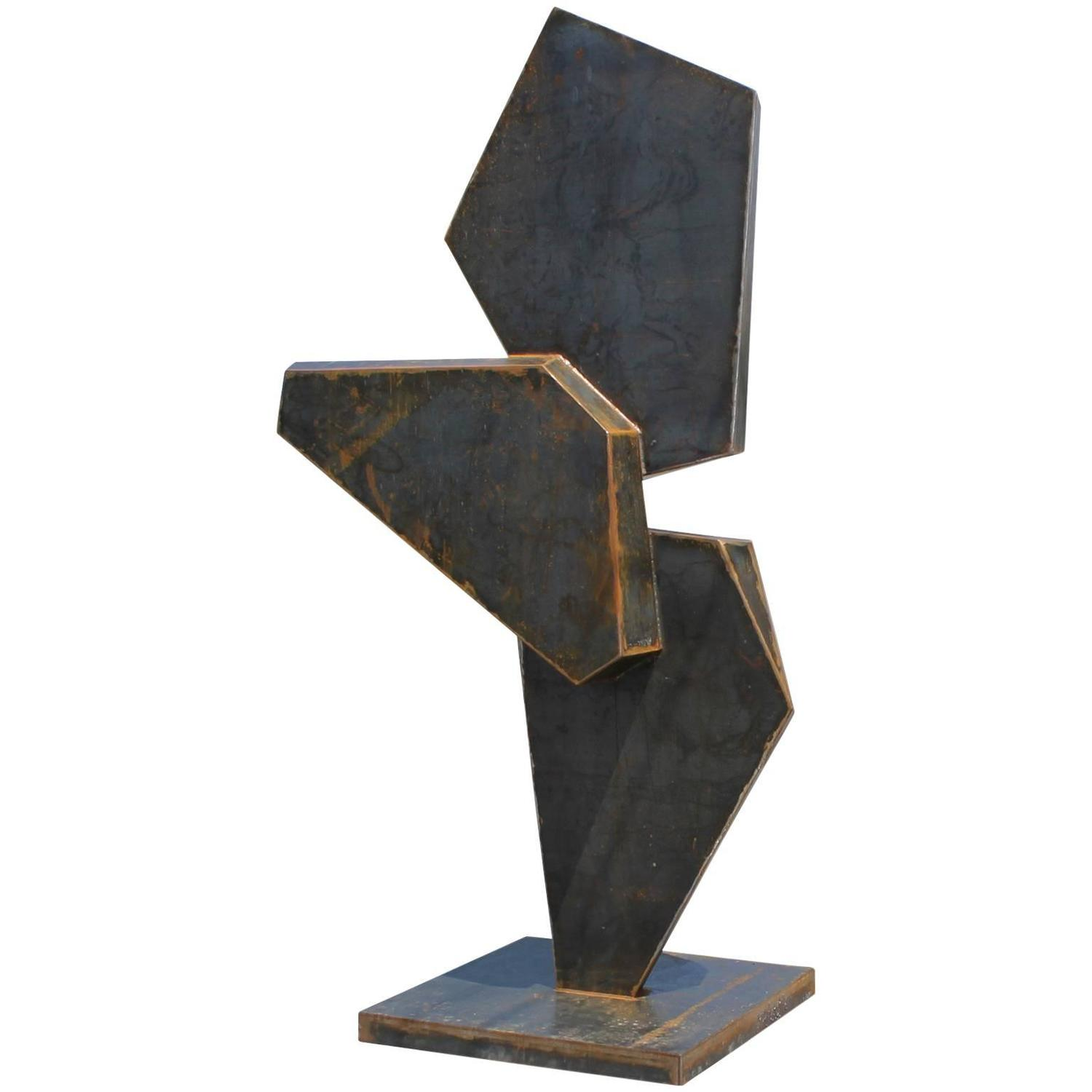 monumental stunning geometric corten steel sculpture for sale at 1stdibs. Black Bedroom Furniture Sets. Home Design Ideas