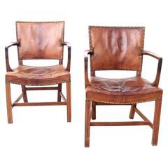 Pair of Large Armchairs by Kaare Klint