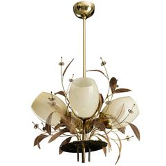 Paavo Tynell Four Shade Ceiling Lamp for Taito Oy