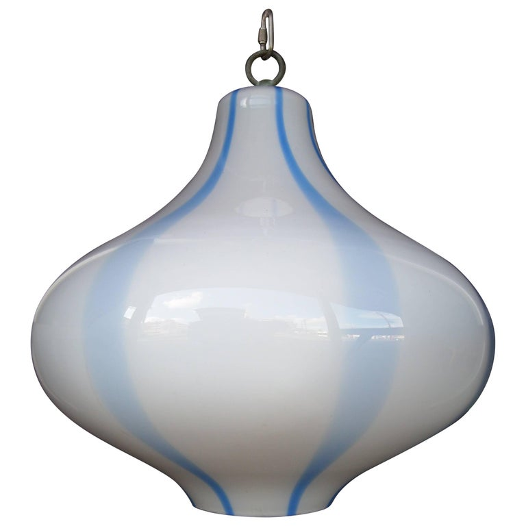 Massimo Vignelli for Venini Murano Glass Ceiling Lamp/ Light Pendant For Sale
