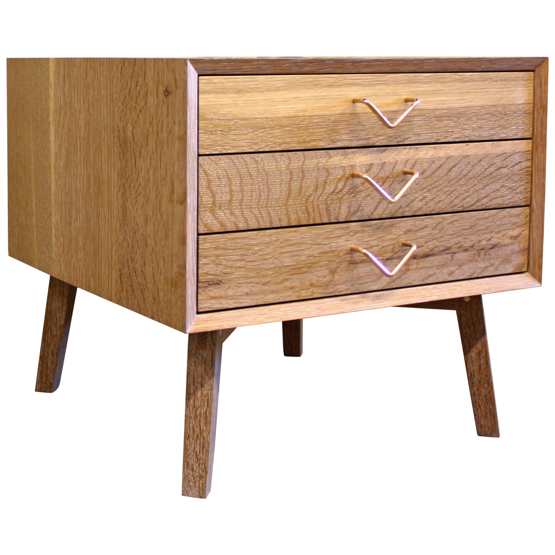 Atlantic Three-Drawer Side Table by Volk