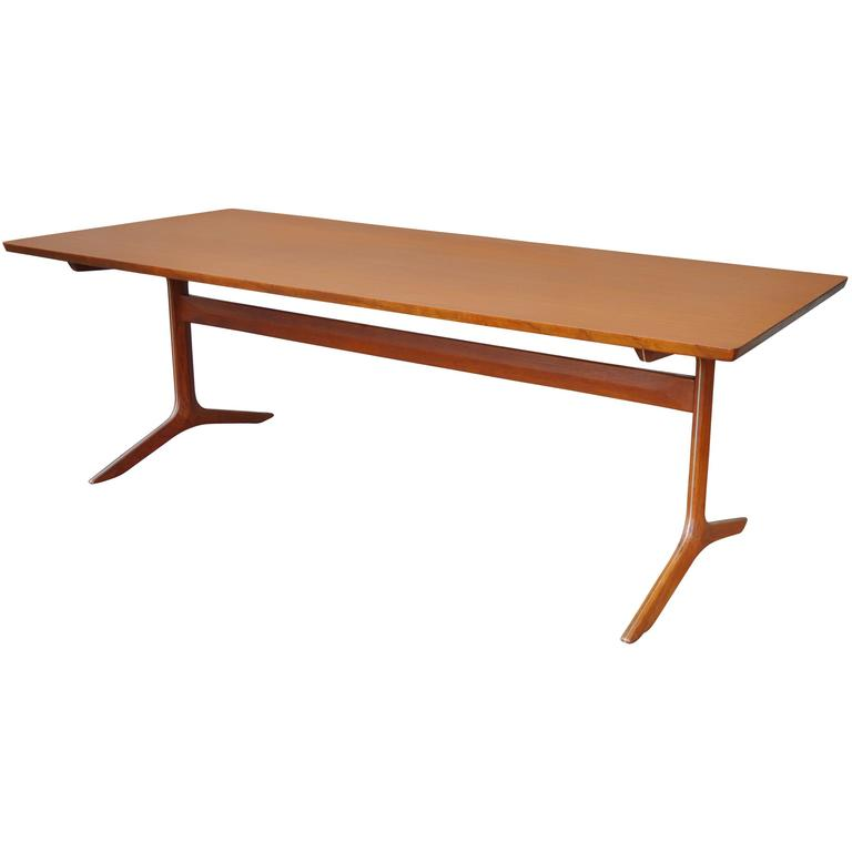 Rare Teak Silver Line Coffee Table by Hvidt & Mølgaard-Nielsen
