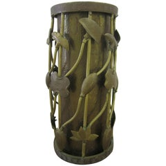 Brass Umbrella Stand in the Art Nouveau Style