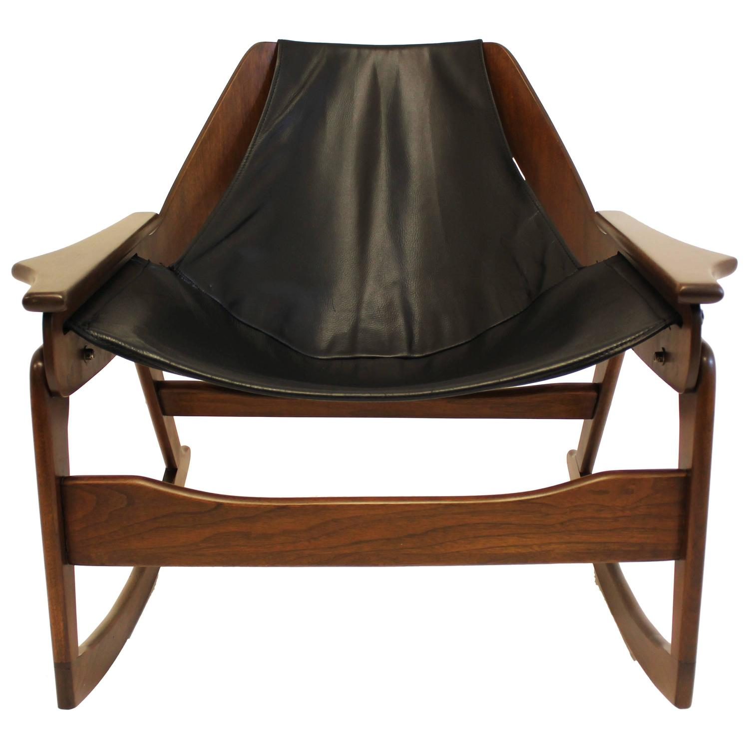 Mid-Century Bentwood Rocking Chair by Jerry Johnson For Sale at ...