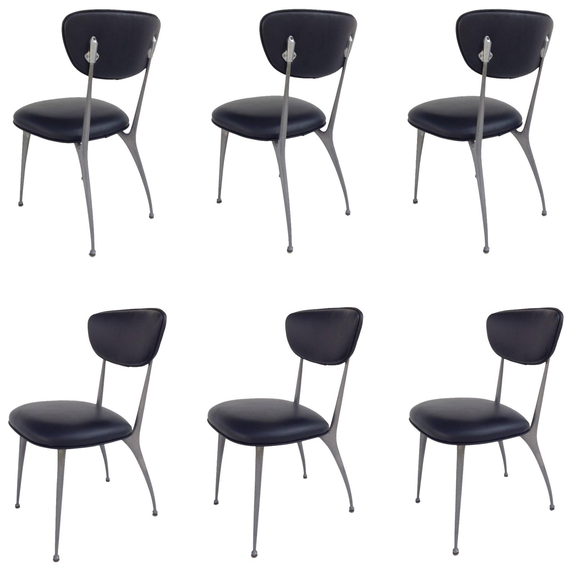 "Six ""Gazelle"" Dining Chairs by Shelby Williams"