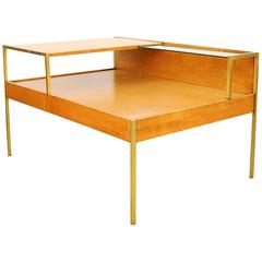 Milo Baughman for Murray Furniture Maple and Brass Coffee Table, circa 1955