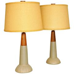 Pair of Gordon and Jane Martz Marshall Studios Art Pottery Table Lamps