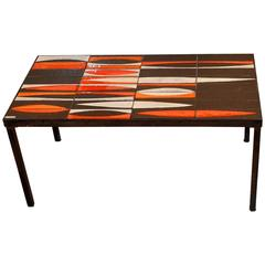 "Coffee Table ""Navette"" by Roger Capron, circa 1950"