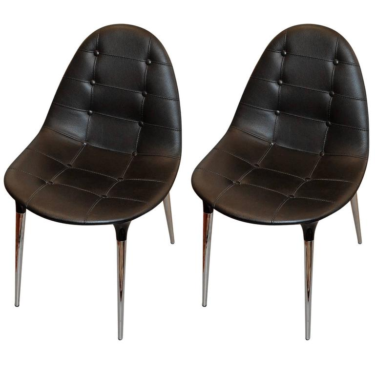 set of two chairs caprice by philippe starck for cassina at 1stdibs. Black Bedroom Furniture Sets. Home Design Ideas