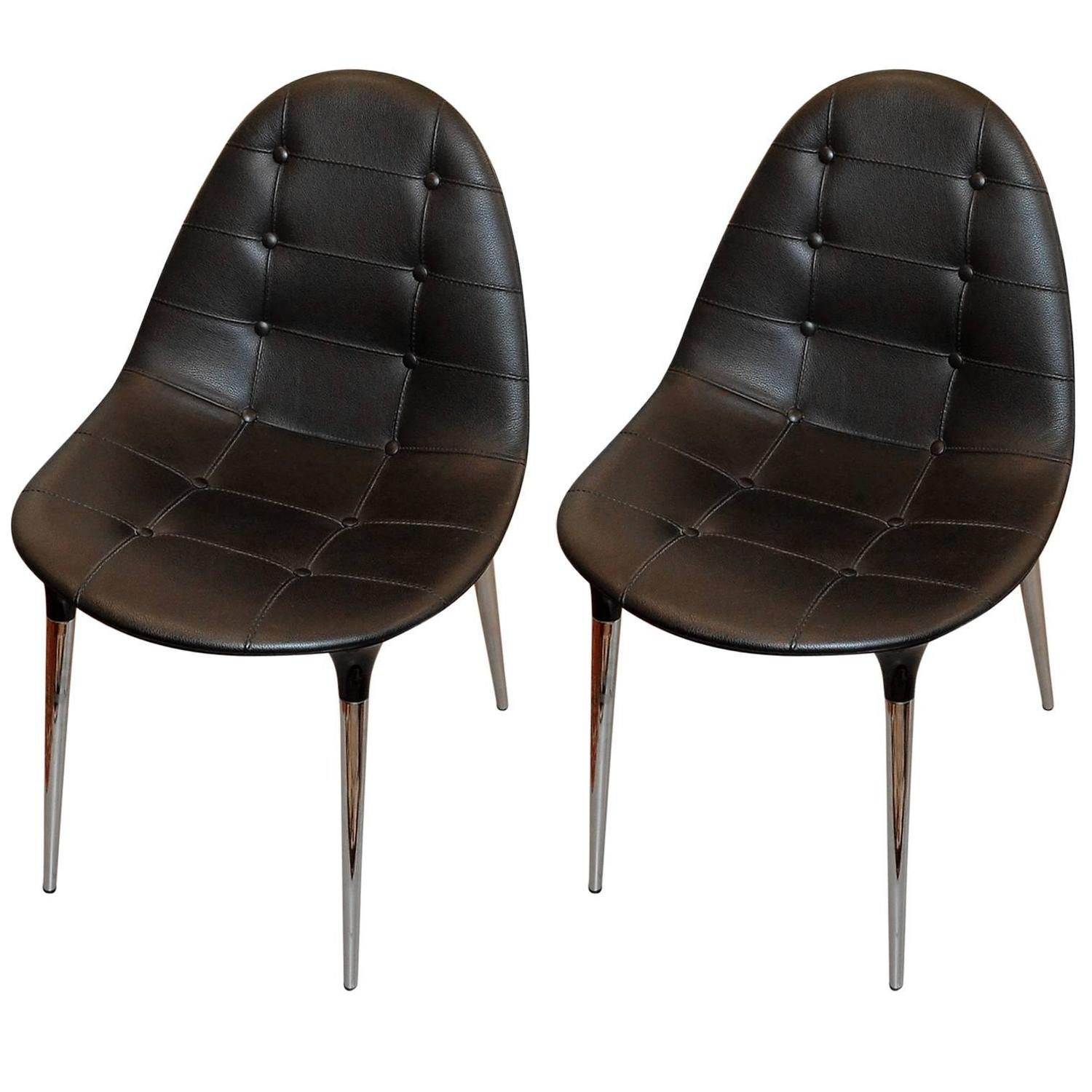Set Of Two Chairs Caprice By Philippe Starck For Cassina