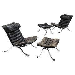 Arne Norell Pair of Easy Chairs Model Ari Produced by Arne Norell AB in Sweden