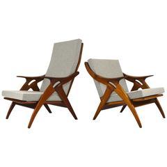 Pair of De Ster Gelderland Lounge Chairs, Netherlands, 1950s
