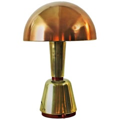 1920s Art Deco Desk Lamp by Magilux, brass, copper and bakelite - Italy