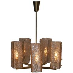 Vintage Texture Glass Chandelier
