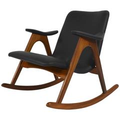 Rocking Chair by Louis Van Teeffelen for WeBe, Netherlands, 1960s