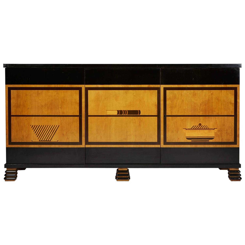 sideboard designed by otto schulz for boet sweden 1930s. Black Bedroom Furniture Sets. Home Design Ideas