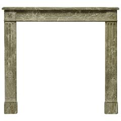 Antique Marble Louis XVI Fireplace Mantel