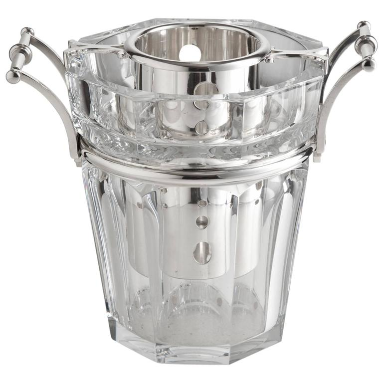 Stunning Baccarat Champagne Cooler, France, circa 1950-1955 For Sale