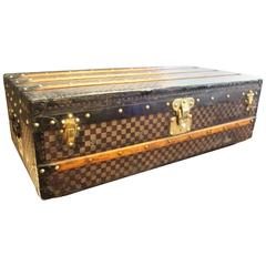Antique 19th Century Louis Vuitton Damier Cabin Steamer Trunk