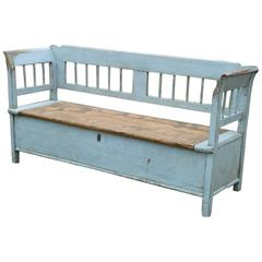 Painted Swedish Storage Bench