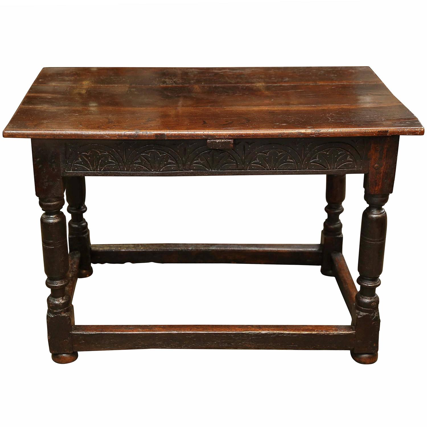 Antique 17th Century Irish Oak Table For Sale At 1stdibs