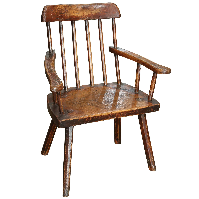 18th Century Folk Art Welsh Stick Chair