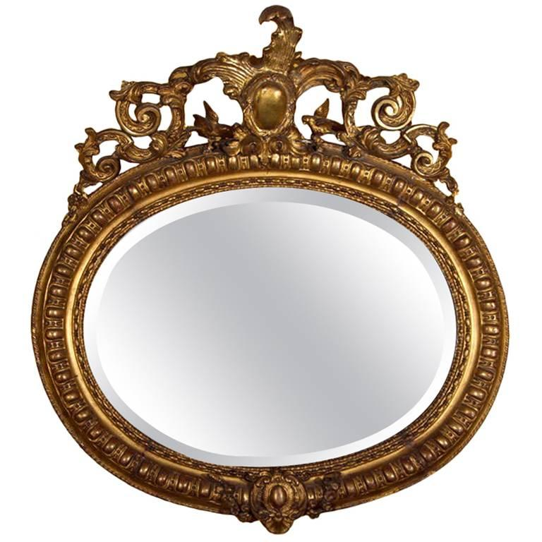 19th Century Giltwood and Gesso Wall Mirror