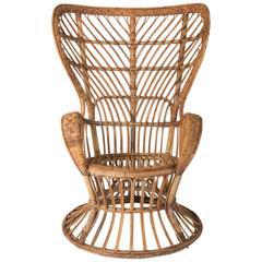 Wicker Armchair Designed by Gio Ponti