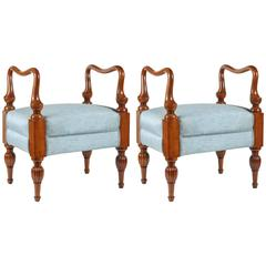 Fabulous, Hand-Carved, Italian Benches