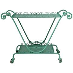 French 1950s Painted Iron Drinks' Trolley