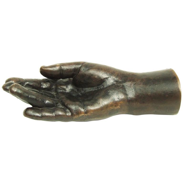 Vintage Bronze Childs Hand Sculpture Pop Art