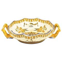 Glazed Earthenware Two-Handled Bowl of the 'Faiencerie de Gien'