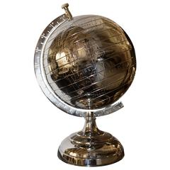Globe on Base in Nickel Finish or in Antique Brass Finish