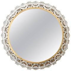 Palwa Gilded Brass and Crystal Backlit Mirror, 1960s