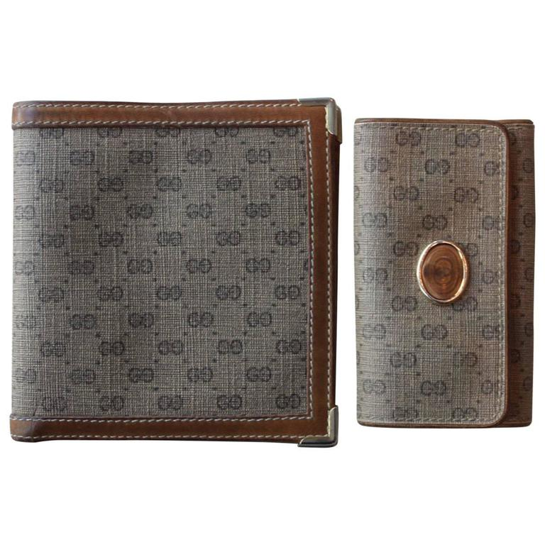 gucci logo. vintage gucci logo wallet and key case 1
