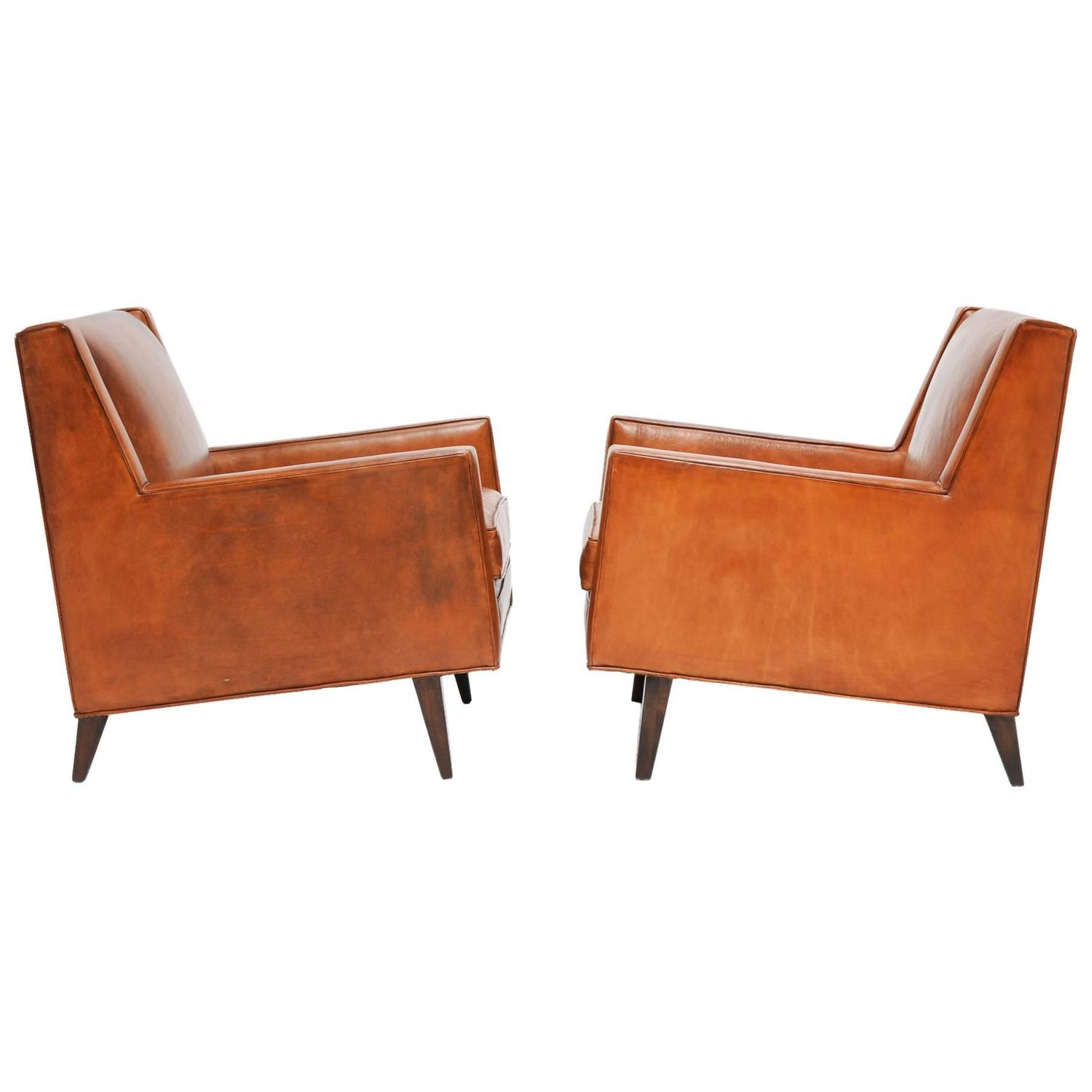 Stylish And Comfortable Pair Of Edward Wormley For Dunbar