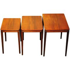Mid-Century Modern Nest of Tables in Rosewood, circa 1960