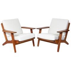 Pair of Danish Modern Lounge Chairs Designed by Hans Wegner