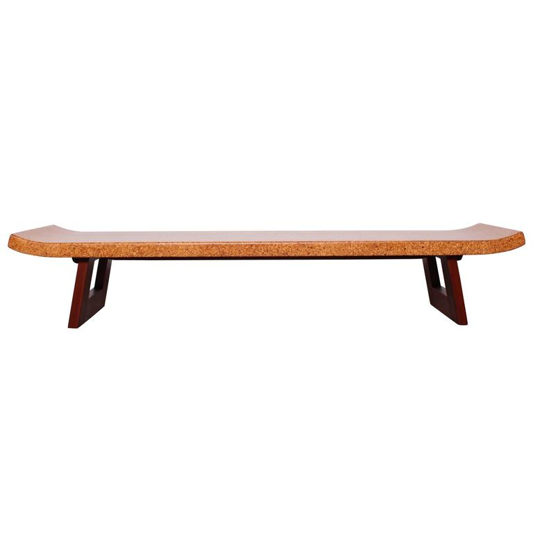 Cork Top Coffee Table Or Bench By Paul Frankl At 1stdibs