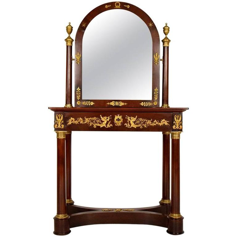 Antique French Mahogany Empire Dressing Table At 1stdibs