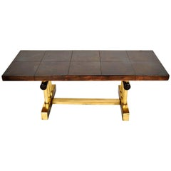 French Brass  Low Coffee Table